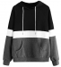 DIDK Colorblock Long Sleeve Drawstring Pullover Hoodie Sweatshirt, 65% off