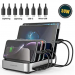 Charging Station for Multiple Devices – Seenda 5-Port 50W 10A USB Charging Station Organizer Desktop Charger with 8 Short Mixed USB Cables Compatible with iPad iPhone and Android Cell Phone Tablets,40% off