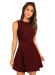DIDK Women's Sleeveless A Line Fit and Flare Glitter Above Knee Party Cocktail Skater Dress,75% off